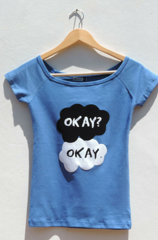 Okay okay. shirt the fault in out star clothing women by favoritee