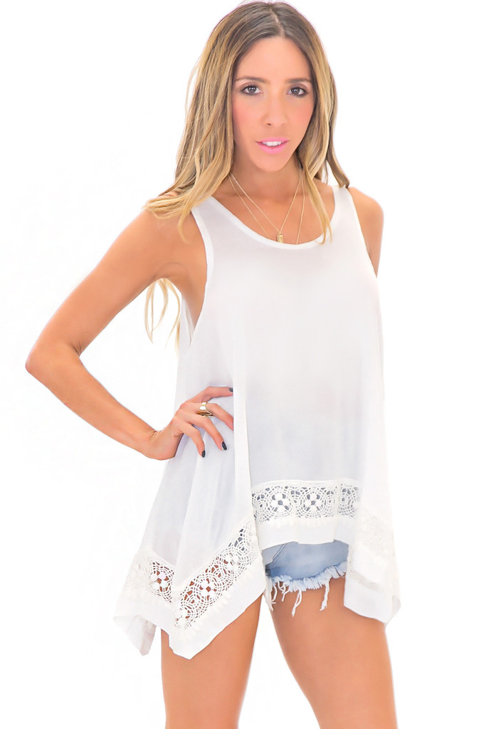 VOLITA LACE TRIM TOP | Haute & Rebellious