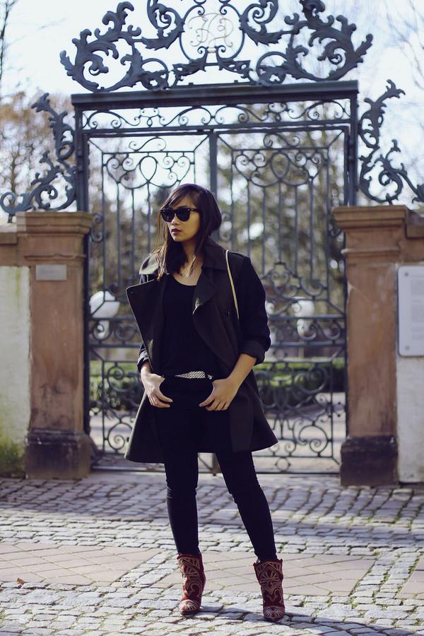 mode junkie shirt jeans coat shoes bag belt