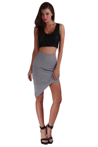 Oblivion Shift Skirt - Grey | BlueHotTea Boutique