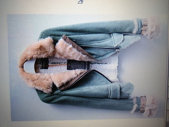 jacket green fur faux fur motorcycle jacket pretty warm white brown cute beautiful hot cool coat