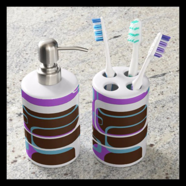 home accessory bath design love gift ideas purple macro abstract fractal pattern zazzle accessories
