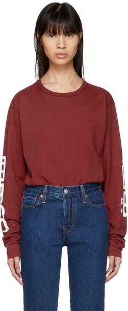 Bianca Chandon t-shirt shirt t-shirt long arabic red top