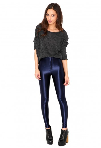 Kadira Premium Shiny Disco Pants - Leggings - Missguided