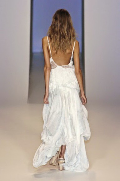 runway designer lowback formalwear