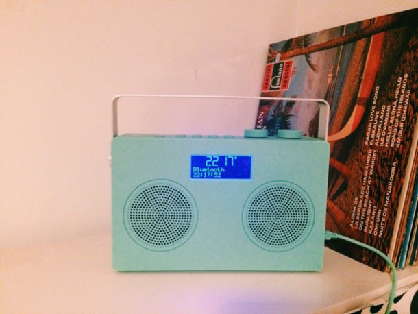 home accessory radio bluetooth blue boombox speakers ipod iphone