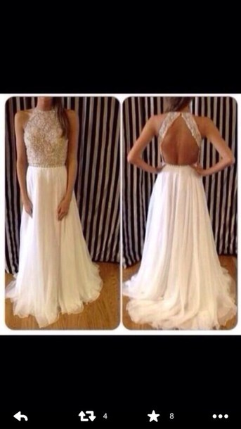 dress beige dress long prom dress open back prom dress elegant dress