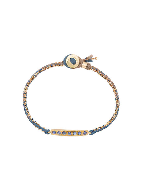 Brooke Gregson women gold cotton blue yellow jewels