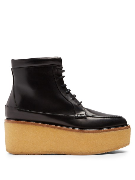 Gabriela Hearst ankle boots leather black shoes