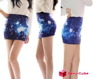 2013 new women's a line skirt digital printing high waist universe galaxy dress