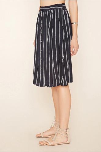 skirt striped skirt button up skirt navy