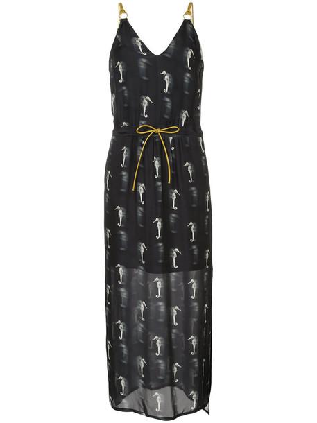 Manning Cartell dress women black silk