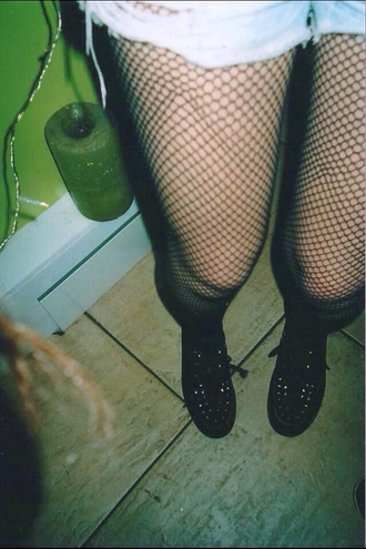 shoes punk rock studs vintage tumblr outfit grunge underwear