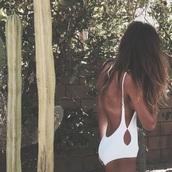 swimwear,white swimwear,one peice swimwear,low back swimsuit