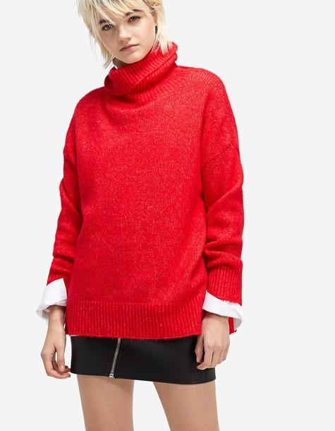 Stradivarius sweater red