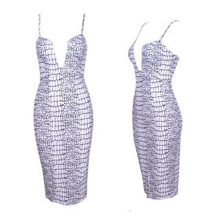 Rift Printed V-neck Dress
