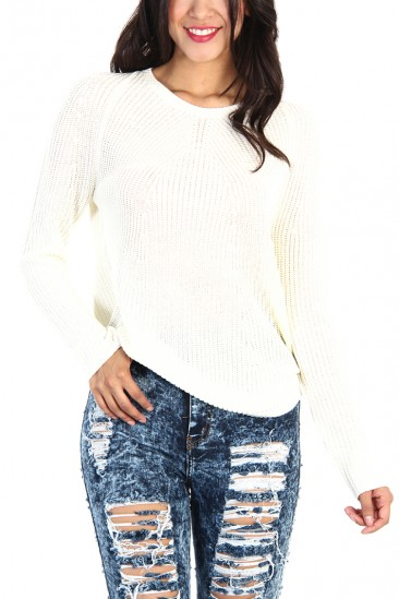 OMG Knit Cotton Sweater - Ivory