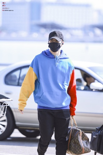 sweater hoodie jackson wang kpop korean fashion chinese fashion colorful