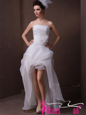 dress,summer weddings,high low wedding dress,high low white wedding dresses,short wedding dress,summer outfits,summer wedding dresses,high low prom dresses,high low dress,white wedding dress beautiful gown,white wedding dressdes,white wedding prom dress,bridesmaid,brides dress,beach wedding dress