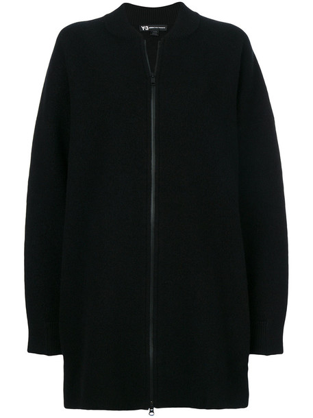 Y-3 coat embroidered women mohair black