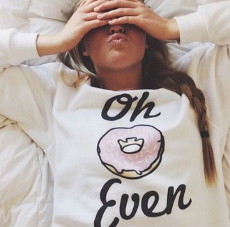 sweater donut white black pink junkfood sweatshirt punts