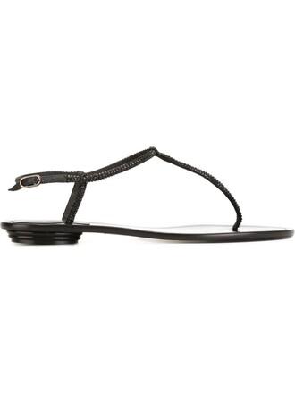 ankle strap sandals black shoes