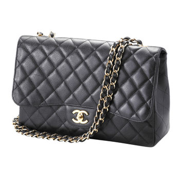 Chanel Classic Black Shoulder Bag 2006 on Wanelo
