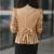 Women Blazer Jacke Top Eng Geschnittenes Zweireihiger Bowknot Puffärmeln 3709 | eBay