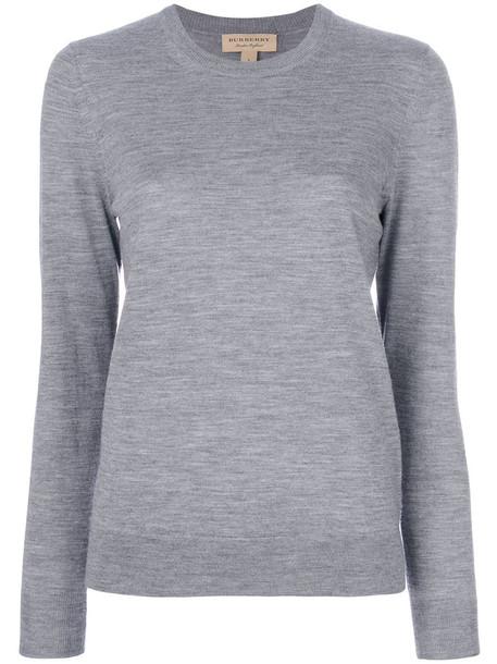 Burberry jumper women fit grey sweater