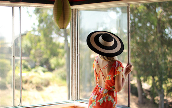 pop culture afternoon floppy hat black hat white hat