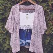 shorts,jacket,cardigan,lace top,kimono,lilac purple,fashion,summer outfits,blouse,sweat,boho,flowrer,top,music festival,white crop tops,shirt,t-shirt,tank top,necklace,pink coat,lace kimono