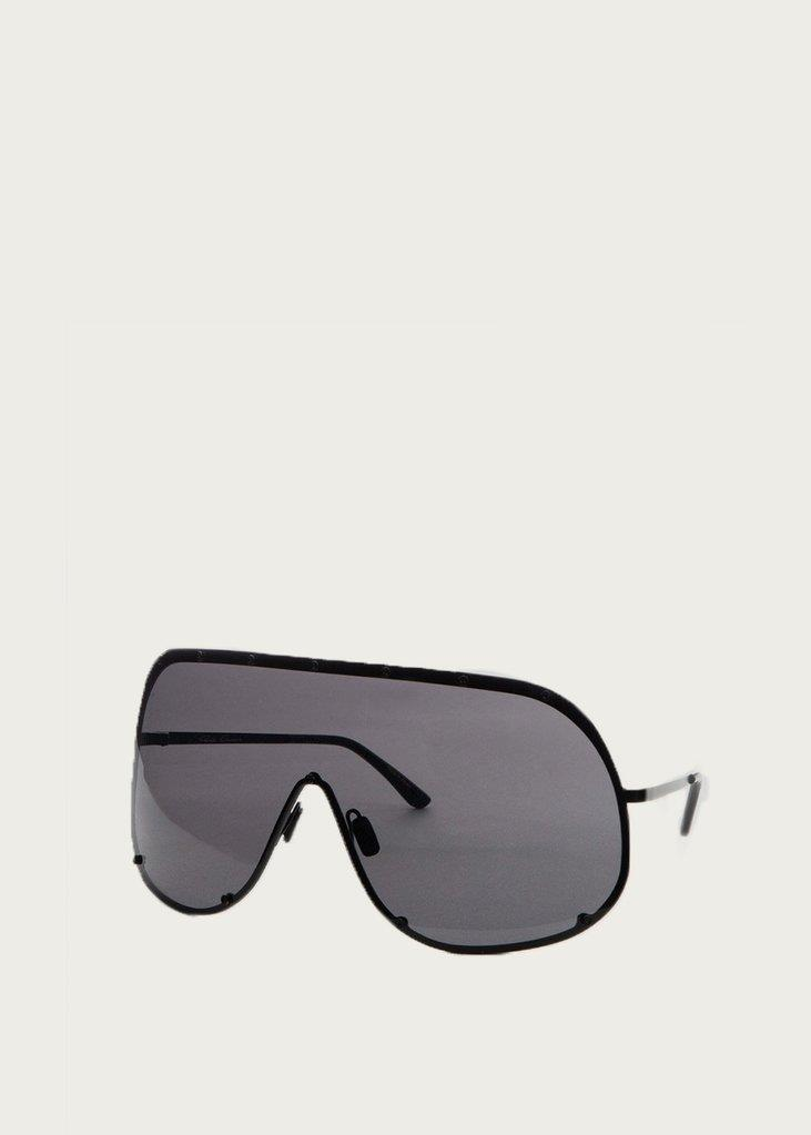 Rick Owens Mask Shield Sunglasses in Black