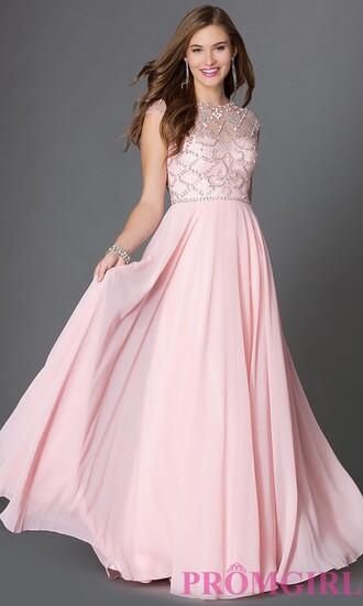 dress floor length dress evening dress illusion bodice prom dresses brandy melville high-low dresses prom dress beaded embellished