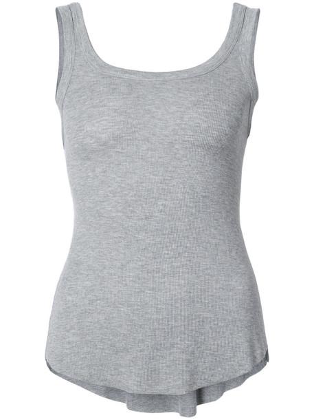 KENDALL+KYLIE top vest top basic women spandex grey