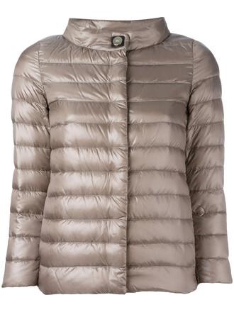 jacket down jacket high women high neck brown