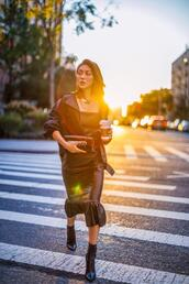 not jess fashion,blogger,dress,jacket,shoes,bag,jewels,boots,leather dress,leather jacket