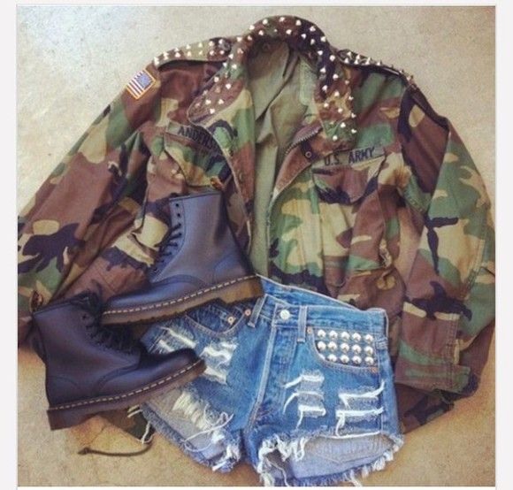 camouflage jacket army green jacket cute