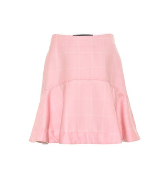 Calvin Klein 205W39NYC Checked wool miniskirt in pink