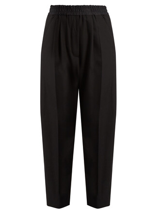 high wool black pants