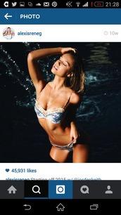 swimwear,alexis ren,bikini,multicolor