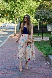 lamariposa,blogger,tank top,skirt,shoes,sunglasses,bag,jewels