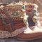 Upcycled reworked vintage boho cowboy boots - custom boho boots