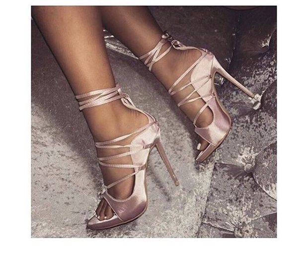 shoes light pink rose high heels heels
