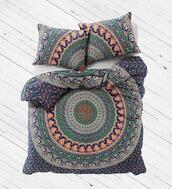 home accessory,mandala bedding set,duvet cover set,queen bedding set,cotton bed cover and pillows,queen bedsheet,large bedspread,hippie tapestry,queen blanket,hippie tapestries,wall hanging,beach throw