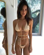 swimwear,emily ratajkowski,model,instagram,bikini,bikini top,bikini bottoms