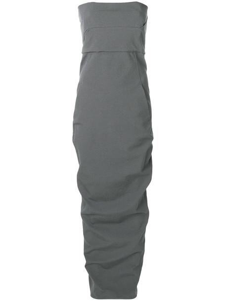 Rick Owens dress bustier dress women spandex cotton grey