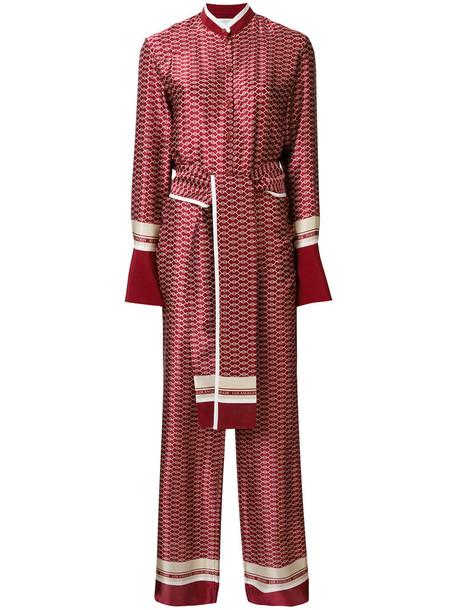 Victoria Victoria Beckham jumpsuit women silk red