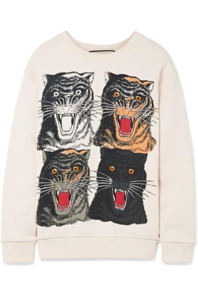 gucci sweatshirt cotton cream sweater