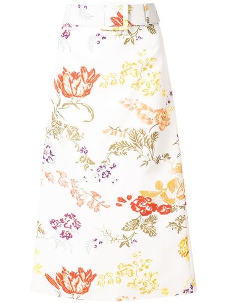 Rosie Assoulin skirt women floral cotton silk