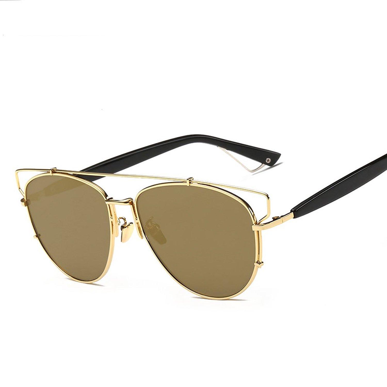 9bff711bbb6 Amazon.com  GMAT Retro Vintage Mirrored Aviator Sunglasses Metal ...
